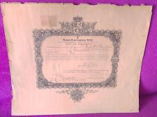 Titre de Comture Del Rey Alfonso XIII pour Jose Maria Prats & Maison 1924
