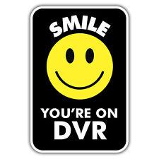 2x sonrisa Tu en Dvr advertencia pegatinas 55 x 86 mm Cctv