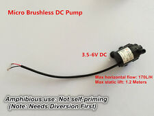 3.5-6V Mini Brushless Water Pump Submersible CPU Cooling 1.2M 170L/H Ultra quiet