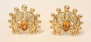 Christian Dior Germany Diamante Earrings
