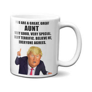 PRESIDENT DONALD TRUMP AUNT COFFEE MUG
