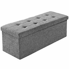 Faltbare Sitzbank Aufbewahrungsbox Sitzwürfel Hocker Box Möbel 110x38x38cm