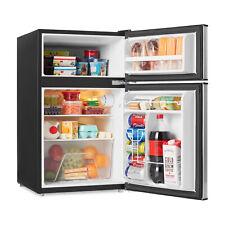 Stainless Steel 3.1 Cu Ft 2-Door Personal Mini Fridge W/ Freezer Reversible Door