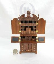 """Wooden Miniature 1:12 Scale The"""""""" ALEXANDER"""" Secretaire For Doll House [WN]"""