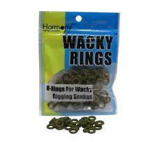 "Wacky Rings - 100 GREEN PUMPKIN O-Rings for Wacky Rigging 3"" Senko/Finesse Worms"