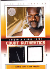 2004 Fleer E-XL Shaquille O'Neal Jersey Patch GOLD #d /22  Rare!