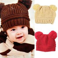 Creative Baby Boys Girls Sweet Toddler Knitted Beanie Winter Crochet Hat Cap