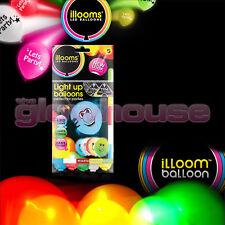 Illoom Balloon LED Light Up Balloon Stars Birthday Halloween Smiley Faces Pirate