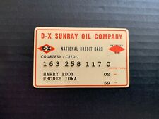 1959 D-X Sunray Oil Company Credit Card
