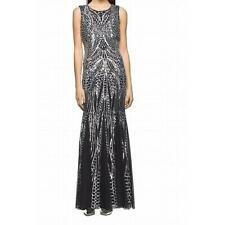 Calvin Klein NWT Exquisite SILVER Sequined Mermaid Ball Gown Dress , 6,8,10