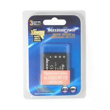 For Casio NP-110 NP110 Camera Battery Exilim Zoom EX-Z2000 EX-Z2300 EX-ZR10 ZR15