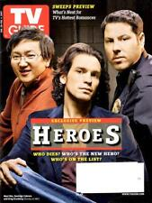 Collectible Tv Guide - Heroes - 4 Collector Covers - Ali - Bell - Pasdar - Oka