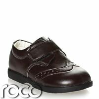 Boys Dark Brown Brogue Shoes, Boys Formal Shoes, Page Boy Shoes, Baby Shoes