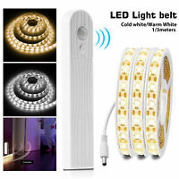 Wireless PIR Motion Sensor LED Strip Lamp Bed Cabinet Closet Stairs Night Light