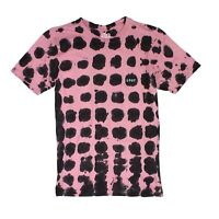 ...Lost Mens T-Shirt Pink Size Small S Blotched Logo Print Graphic Tee $34 103