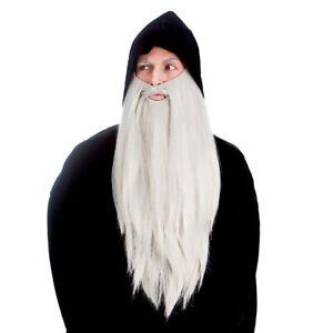 Deluxe Long Beard Grey Wizard Beard Magician Halloween Fancy Dress Adults Mens