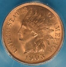 1903 Indian Head Cent ICG MS65RD- Sharp, Bright Red Gem