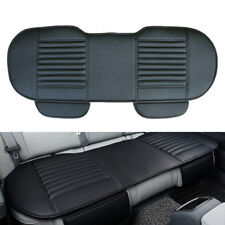 Car Auto Rear Bench Seat Cover Cushion PU Leather Breathable Bamboo Pad Black