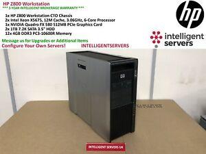 HP Z800 Gaming Workstation, 2x Xeon X5675 3.06GHz, 48GB, 2TB HDD, Quadro FX 580