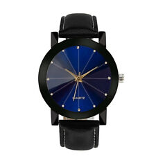 Luxury Quartz Sport Military Stainless Steel Dial Leather Band  Womens Watches