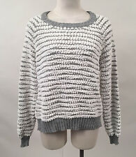 Obey Women's Knit Sweater Marais Raglan White/Grey Size S NWT Shepard Fairey