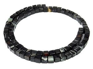 Sardonyx Cube 0 3/16in Gemstone Beads Strand For Bracelet, Chain And Mehr