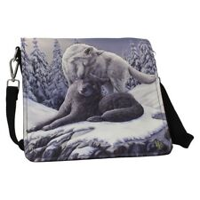 Lisa Parker Embossed Shoulder Bag featuring Snow Kisses design