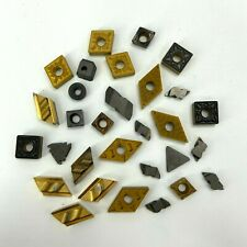 30 Pcs Mixed Lot Of Used Carbide Inserts Mostly Sandvik And Kennametal