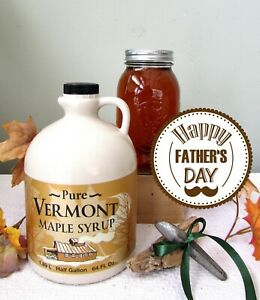 FATHER'S DAY GIFT! 1/2 Gallon VERMONT Maple Syrup~Ships Free to Your Special Dad