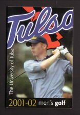 Tulsa Golden Hurricane--2001-02 Golf Pocket Schedule--Southwest Airlines