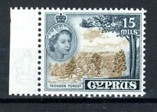 More details for cyprus 1958 15m troodos forest yellow-olive and indigo mnh