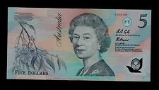 AUSTRALIA 5  DOLLARS 7-7-1992  AA36 WITH DATE IN RED  PICK  # 50 UNC