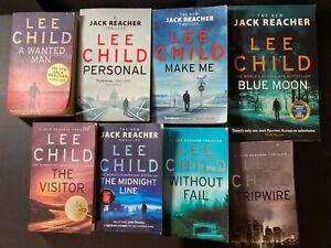 LEE CHILD: 8 x BOOKS; JACK REACHER SERIES BUNDLE. PAPERBACK GS