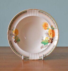 Vintage fine china dessert bowl Myott staffordshire yellow / orange Art De  DPLW