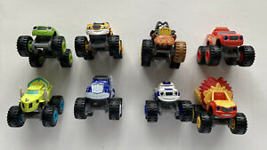 Blaze And The Monster Machines Lot of 8 Die-Cast