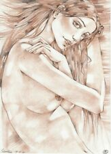 original drawing A3 495RM art by samovar female nude Colored Pencil 2020