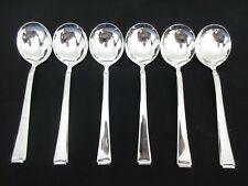 WMF 2500 Bauhaus 800 Silber 6 Tassenlöffel Note 1-2 Sahnelöffel Bouillonlöffel