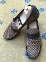 Louis Vuitton Mens Shoes Brown Pony Hair Leather Loafers UK 9.5 US 10.5 EU 43.5