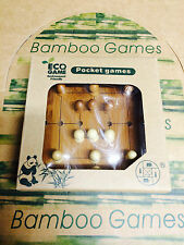 NINE MEN'S MORRIS BAMBOO GAME ECO SERIES POCKET GAMES BRAIN PUZZLE NOVELTY TOY