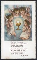 Estampa antigua de Primera Comunion santino holy card image pieuse