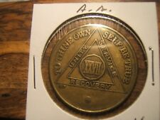 Alcoholics Anonymous Xxvii Year Bronze Medallion Chip Coin Token by Bsb Rare