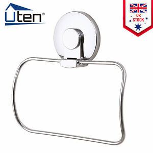 Bathroom Towel Ring Holder Toilet Rail Stainless Steel Wall Mounted Accessory UK