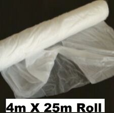 NEW POLYTHENE DUST SHEET ROLL 4M X 25M DUST COVER DECORATING PLASTIC