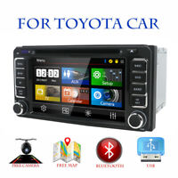 Double 2 Din In Dash Car CD DVD Player Radio Stereo GPS SAT NAV BT For Toyota