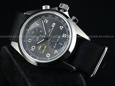 New Glycine Mens 3924.10AT.TB9 Combat Chronograph Automatic 43mm Gray Dial Watch
