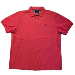 Men's Hackett London Classic Fit Red Polo Shirt Size XL