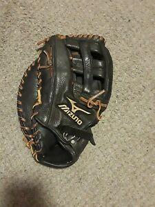 "Mizuno GXF51 12.5"" MVP Baseball Softball First Base Mitt Left Hand Throw VG COND"