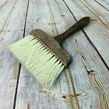 "Vintage Wood Handled Paint Brush 6"" Wide"