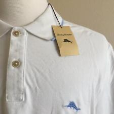 NWT TOMMY BAHAMA Men's White Cotton Blend Polo Golf Shirt Sz LARGE $89