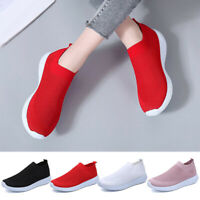 Women Running Shoes Sports Casual Mesh Breathable Slip On Sneakers Lightweight